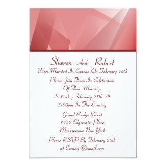 水晶のばら色のポストの結婚式招待状 カード