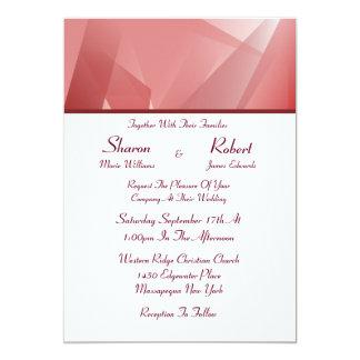 水晶のばら色の結婚式招待状 カード