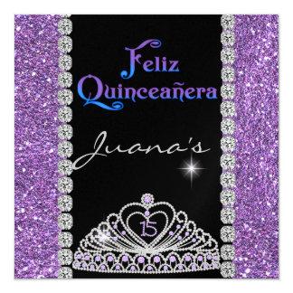 水晶のキンセアニェラの紫色 カード