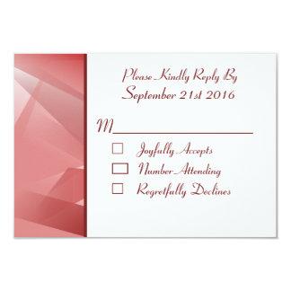 水晶ばら色の結婚のRSVPs カード