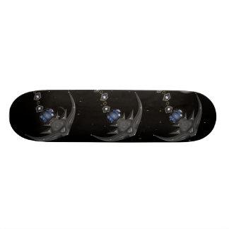 水晶アカエイの黒のカッコいいのスケートボード 18.7CM ミニスケートボードデッキ