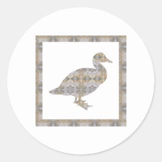 水晶アヒルの鳥DIYのテンプレートNVN430の大きい子供 ラウンドシール