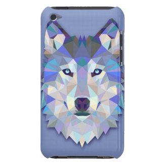 水晶オオカミの幾何学的なオオカミの頭部 Case-Mate iPod TOUCH ケース