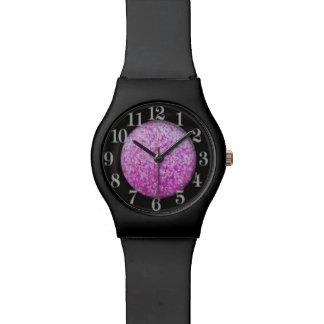 水晶グリッターのアートワーク 腕時計