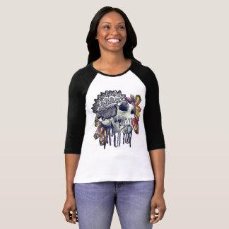 水晶スカルの曼荼羅のTシャツ Tシャツ