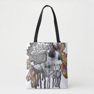 水晶スカルの曼荼羅 トートバッグ