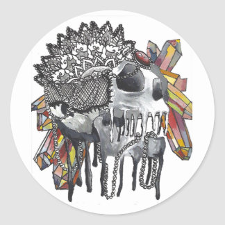 水晶スカルの曼荼羅 ラウンドシール