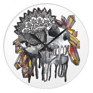 水晶スカルの曼荼羅 ラージ壁時計