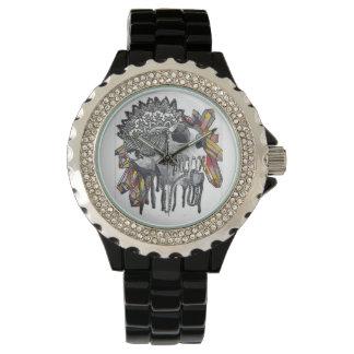 水晶スカルの曼荼羅 腕時計