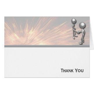 水晶スターバストの握手 カード