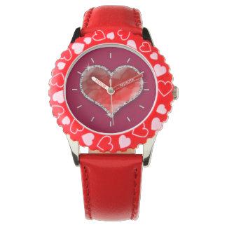 水晶ハート 腕時計