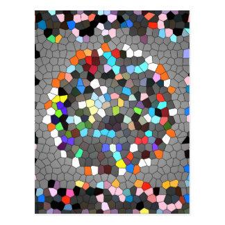 水晶ピクセル点の芸術 ポストカード
