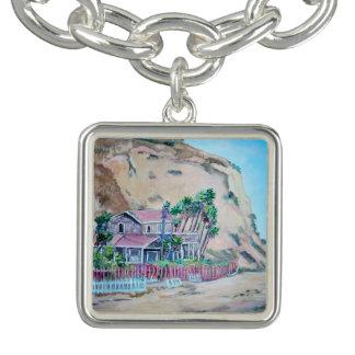 水晶入江-正方形のチャームブレスレットは、めっきされて銀を着せます チャームブレスレット