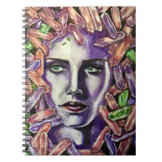 水晶女の子 ノートブック