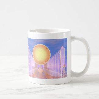 水晶寺院-基本的な白いマグ コーヒーマグカップ