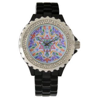 水晶対称(ラインストーンの腕時計) 腕時計