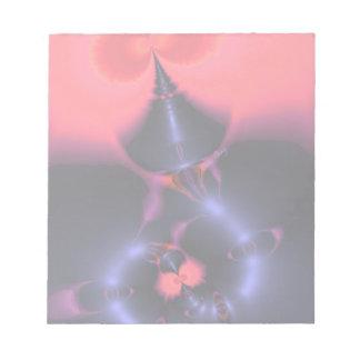 水晶幽霊-サケ及びインディゴの驚きの容認 ノートパッド