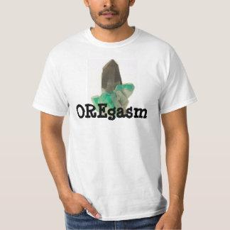 水晶掘る探鉱者のワイシャツおもしろいなAmazonite Tシャツ