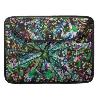 """水晶日光の青緑数々のなMacbook 15"""" MacBook Proスリーブ"""