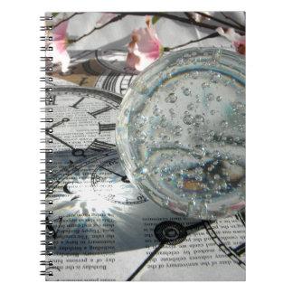 水晶時計 ノートブック