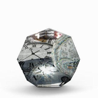 水晶時計 表彰盾