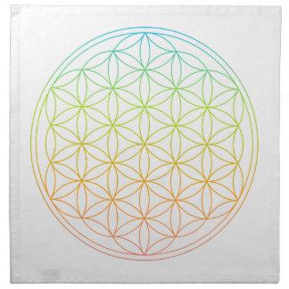 水晶格子布-生命の花 ナプキンクロス