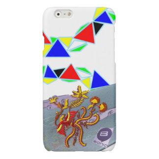 水晶流れに洪 光沢iPhone 6ケース