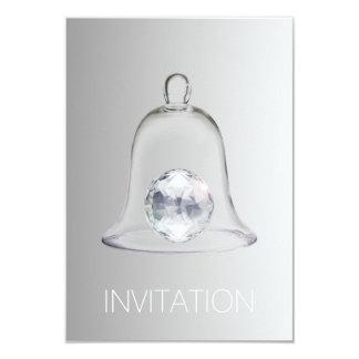 水晶白いSwarovskiクラブパーティVipの招待状 カード
