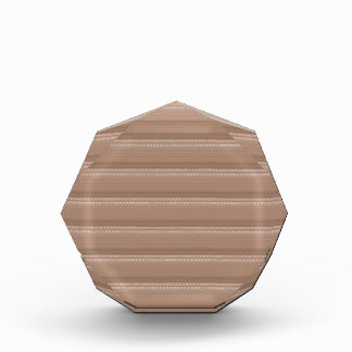 水晶石はクリーム色のブラウンパターンNVN291おもしろいを基づかせていました 表彰盾