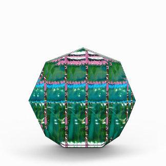 水晶緑の写実的なパターン装飾のギフト 表彰盾