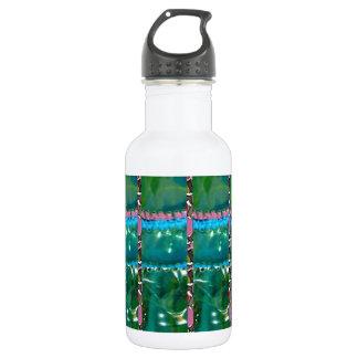 水晶緑の写実的なパターン装飾 ウォーターボトル