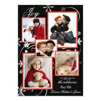 水晶雪片の写真の休日カード カード
