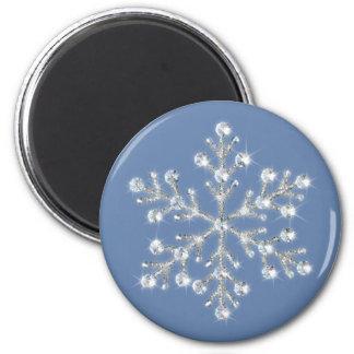 水晶雪片の磁石 マグネット