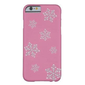 水晶雪片のiPhone6ケース(ピンク) Barely There iPhone 6 ケース