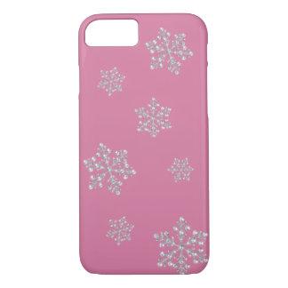 水晶雪片のiPhone 7の場合(ピンク) iPhone 8/7ケース