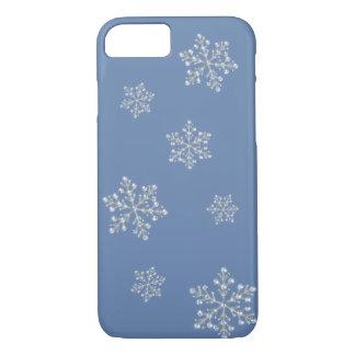 水晶雪片のiPhone 7の場合(青い) iPhone 8/7ケース