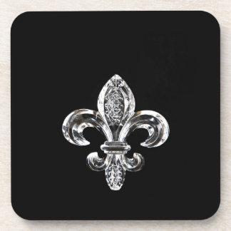 水晶黒い(紋章の)フラ・ダ・リ コースター