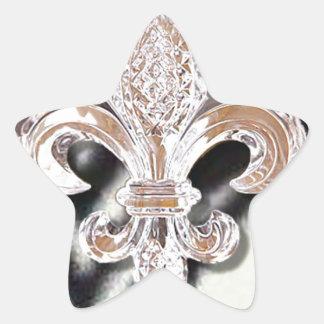 水晶(紋章の)フラ・ダ・リのニュー・オーリンズの謝肉祭のシマウマ 星シール
