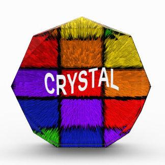 水晶 表彰盾