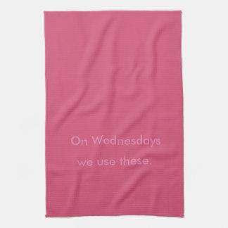 水曜日-ピンクの台所タオル キッチンタオル