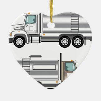 水槽のトラックの液体貨物 セラミックオーナメント
