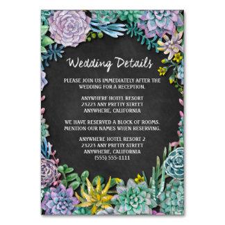 水気が多いチョークの結婚披露宴の挿入物カード カード