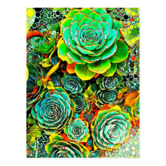 水気が多い庭のポップアートの郵便はがき ポストカード