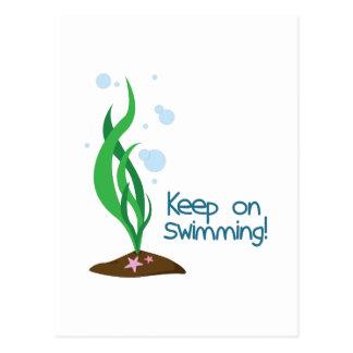 水泳で保って下さい ポストカード