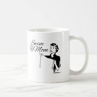 水泳のお母さん コーヒーマグカップ