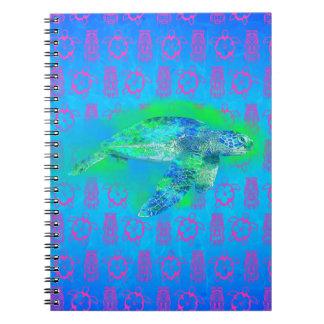 水泳のウミガメ ノートブック