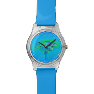 水泳のウミガメ 腕時計