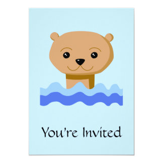水泳のカワウソ カード