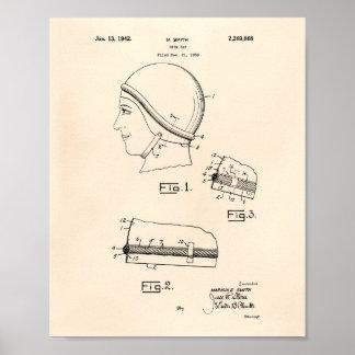 水泳のギャップ1942のパテントの芸術古いPeper ポスター