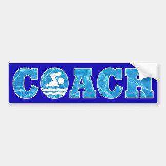 水泳のコーチのためのプール水コーチのバンパーステッカー バンパーステッカー